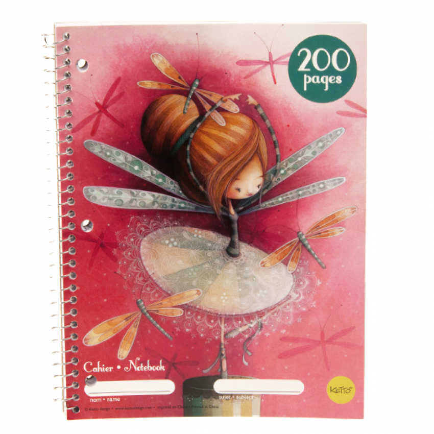 Cahier spirale 200 pages Erika