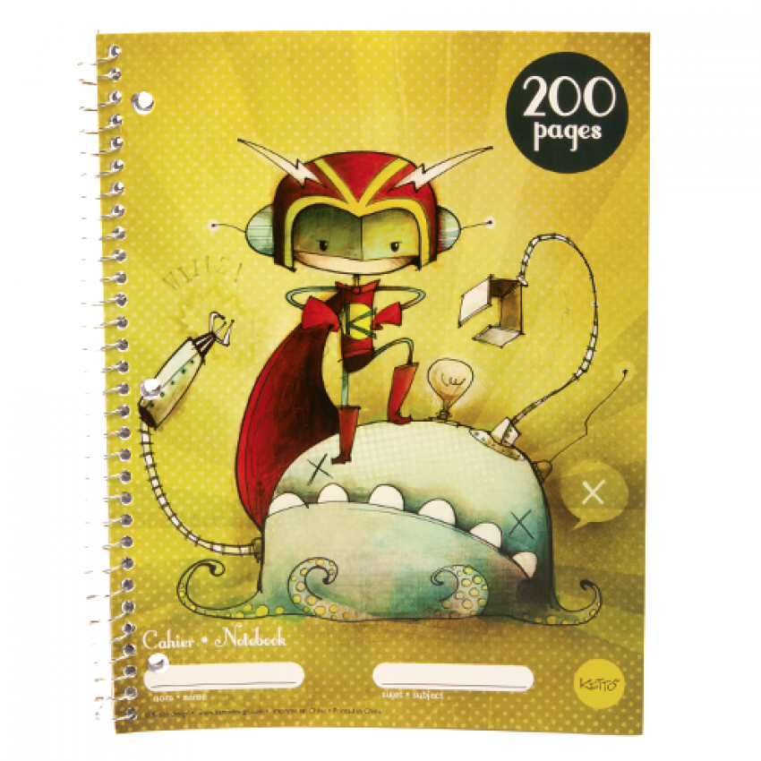 Cahier spirale 200 pages Klovis