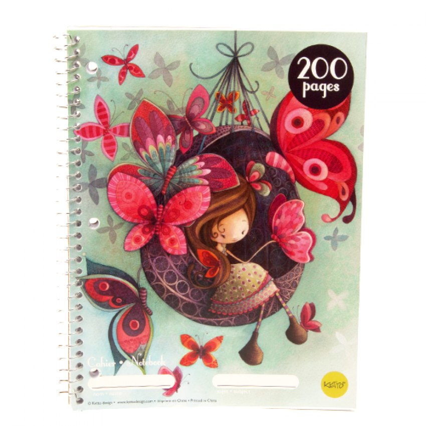 Cahier spirale 200 pages Fannie