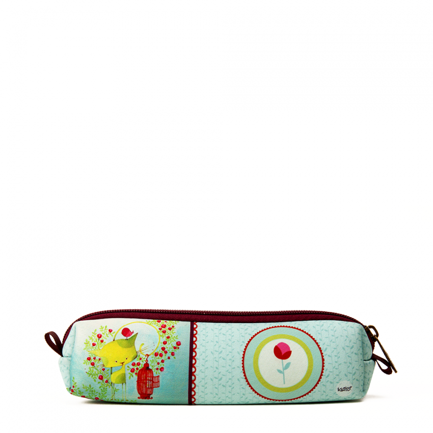 Mini pochette Kiwi le chat