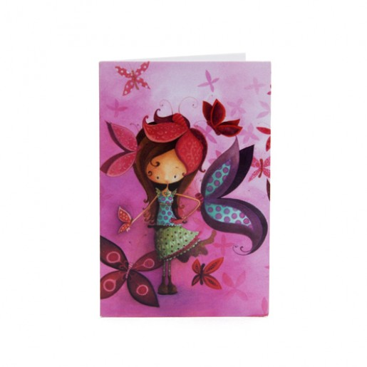 Mini-carte - Fille papillon