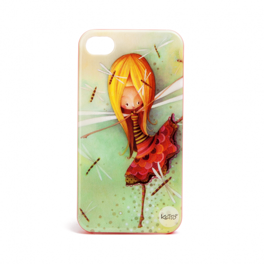 Coque à Iphone 4 Fille libellule