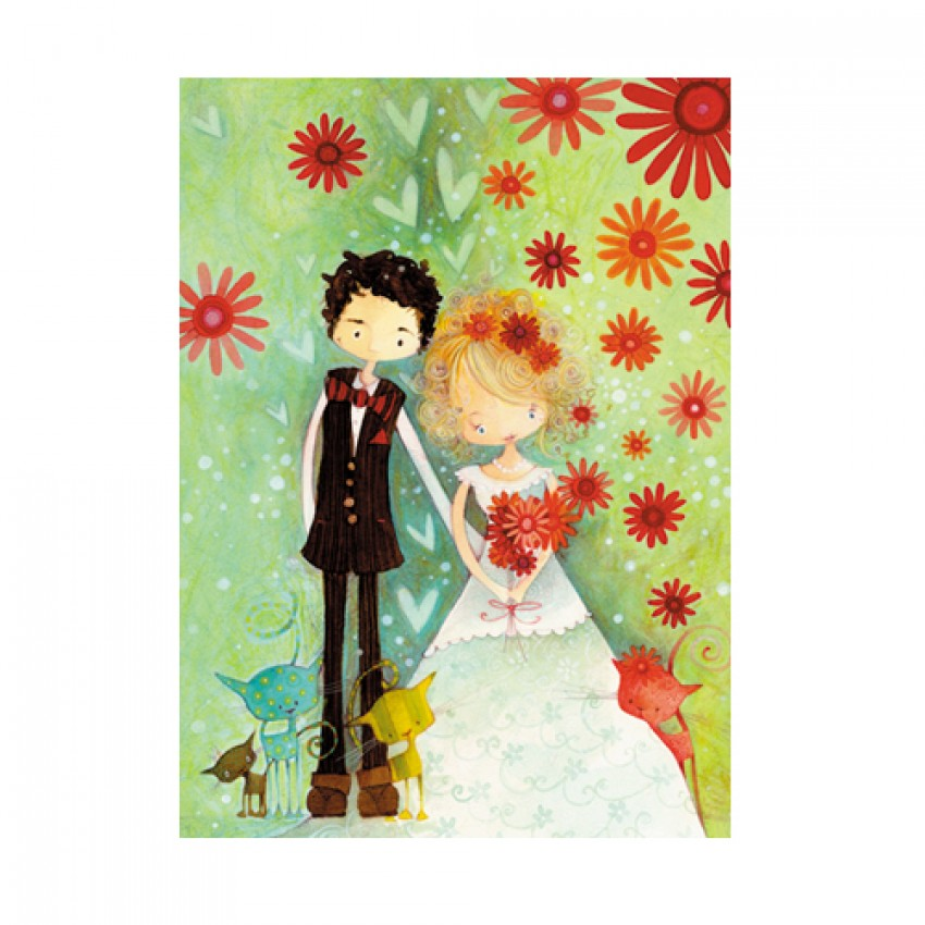 Card Wedding Flowers