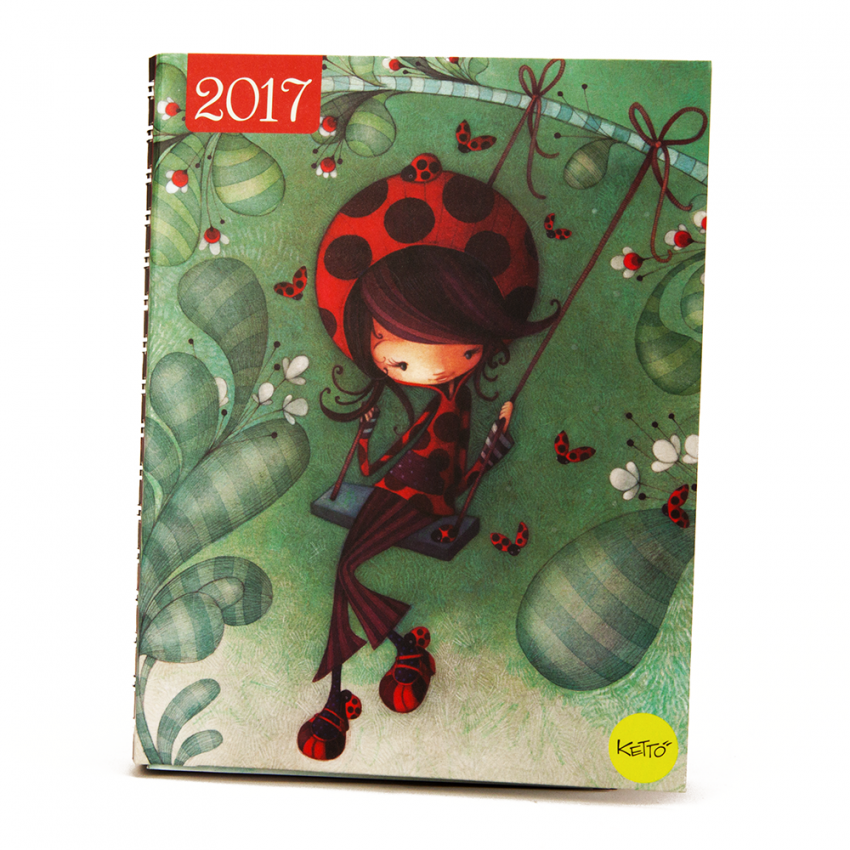 Daily agenda 2017 Ladybug on a swing