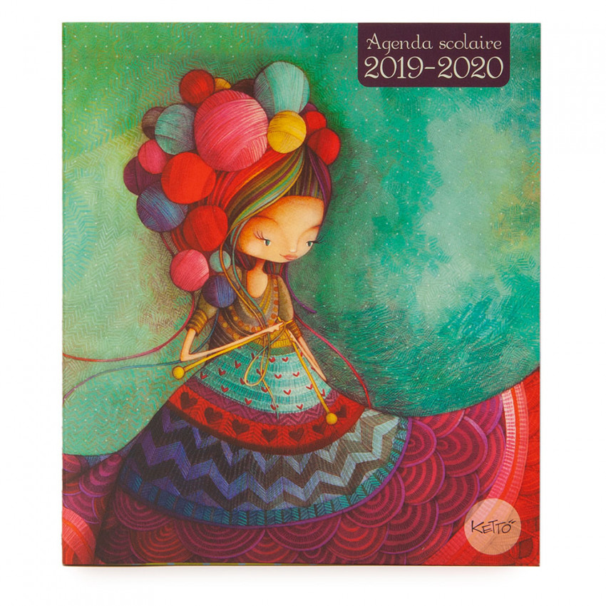 School agenda 2019-2020 Knitting lady