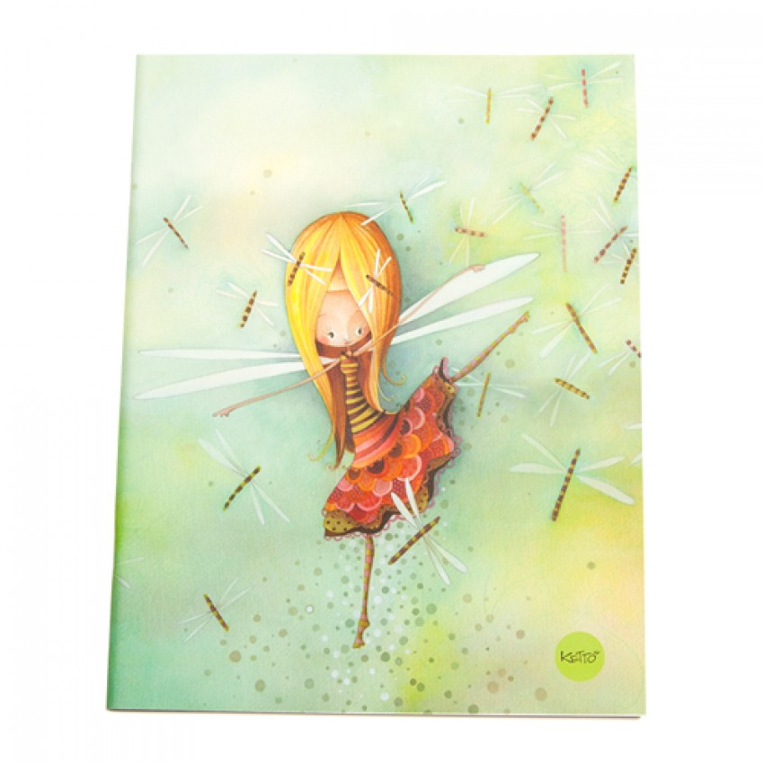 Notebook Dragonfly Girl