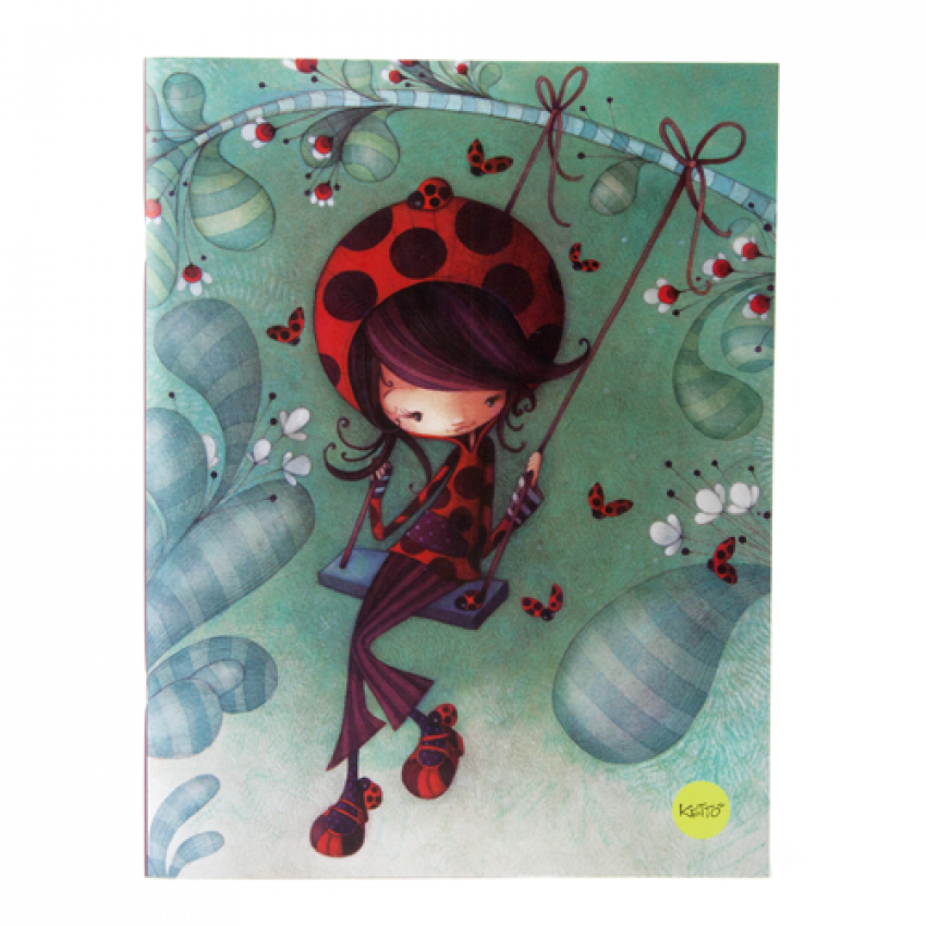 Notebook Ladybug on a swing