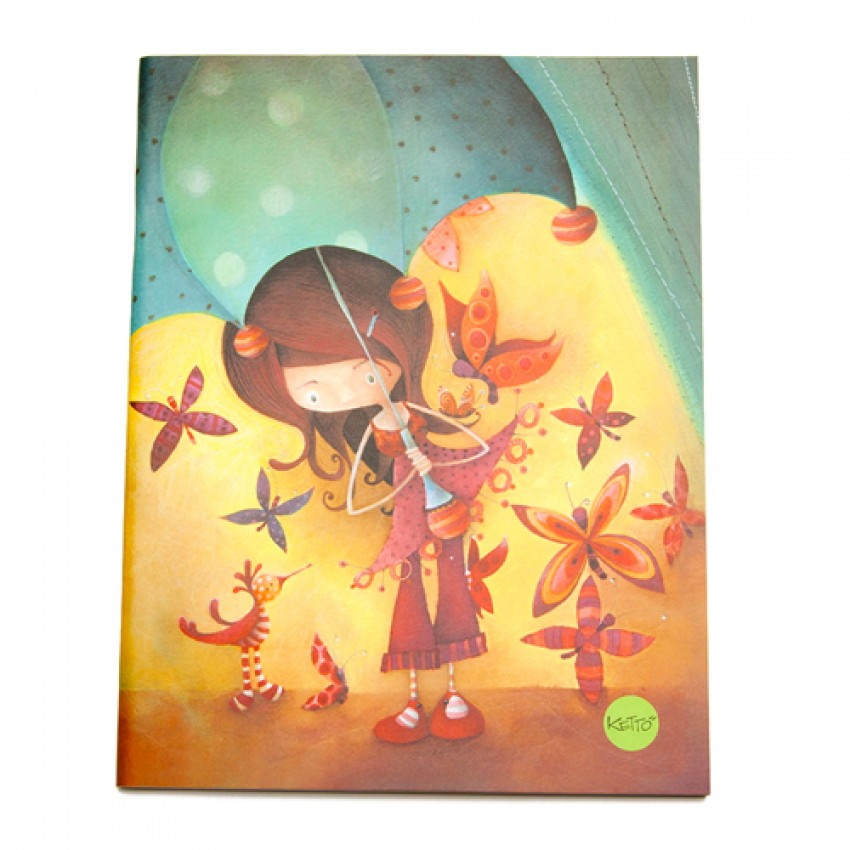 Notebook Umbrella Girl