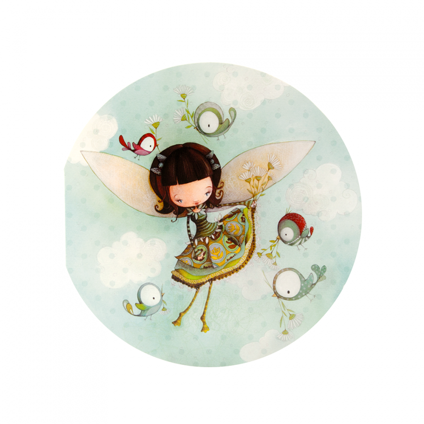 Round Card Fairy Faf