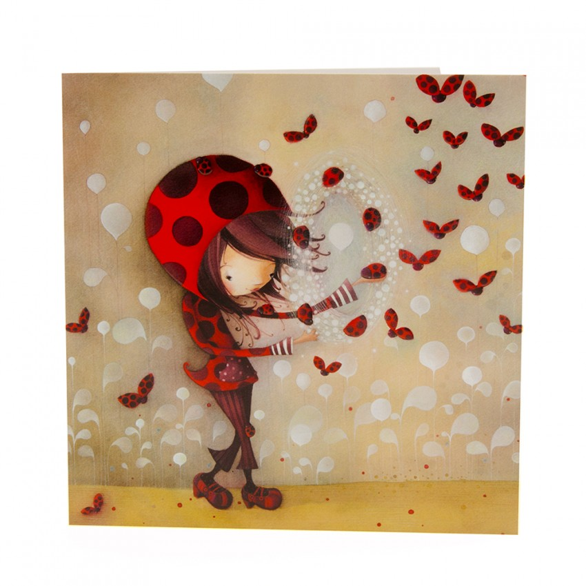 Square card Daphné the Ladybug