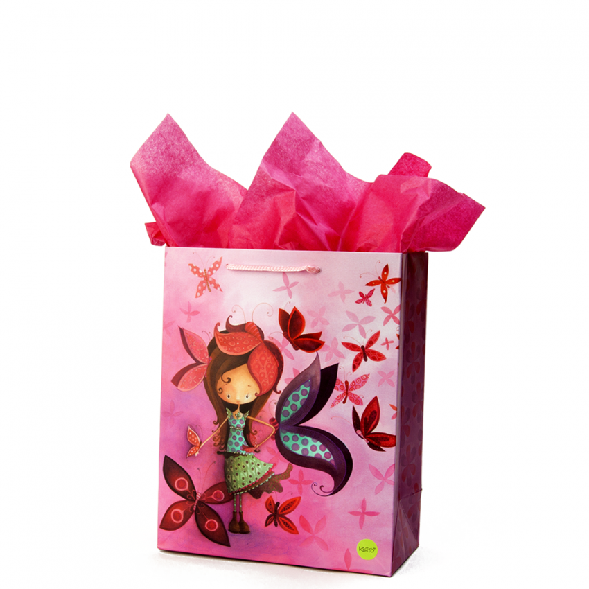 Small gift bag Butterfly girl