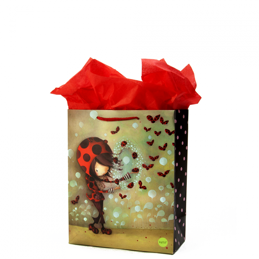 Small gift bag Ladybug girl
