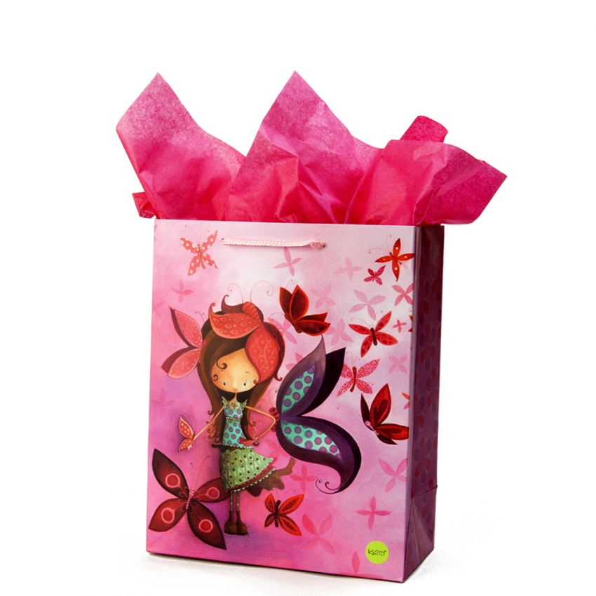 Medium gift bag Butterfly girl