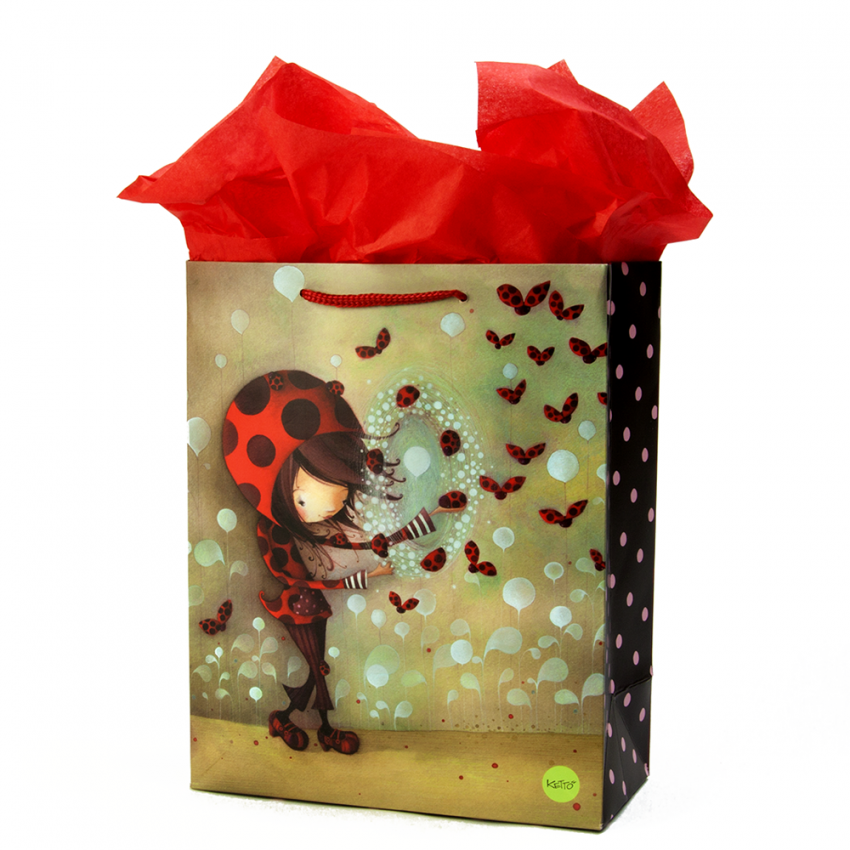 Large gift bag Ladybug girl