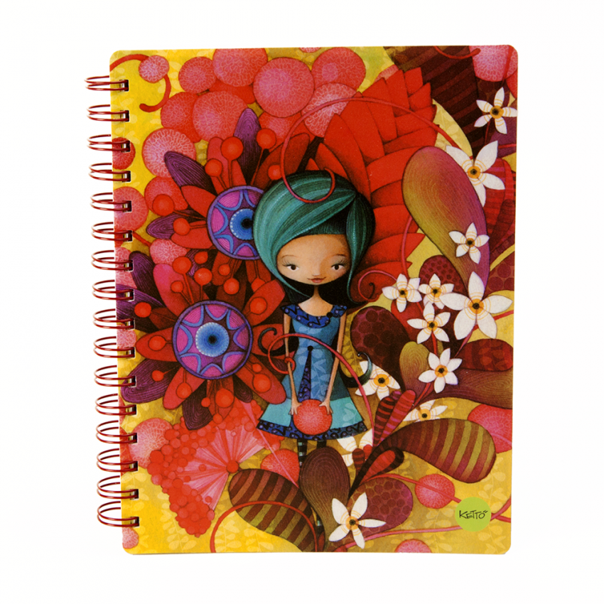 Softcover journal Blue lady