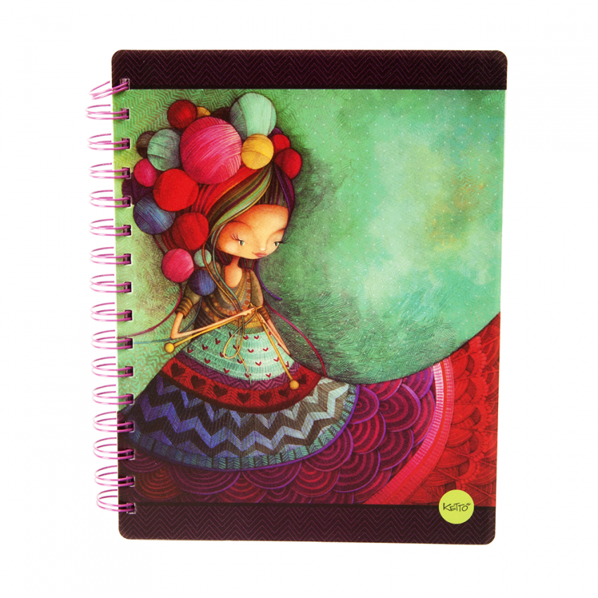 Softcover journal Knitting lady