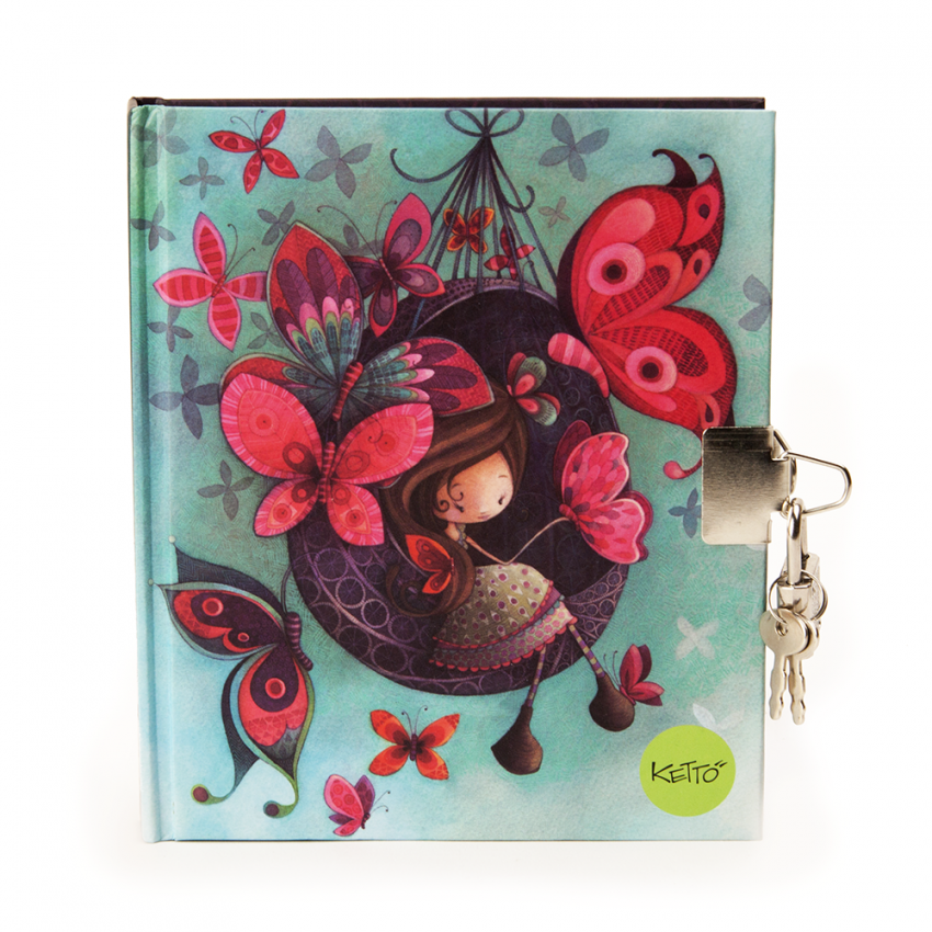 Journal with padlock Fannie