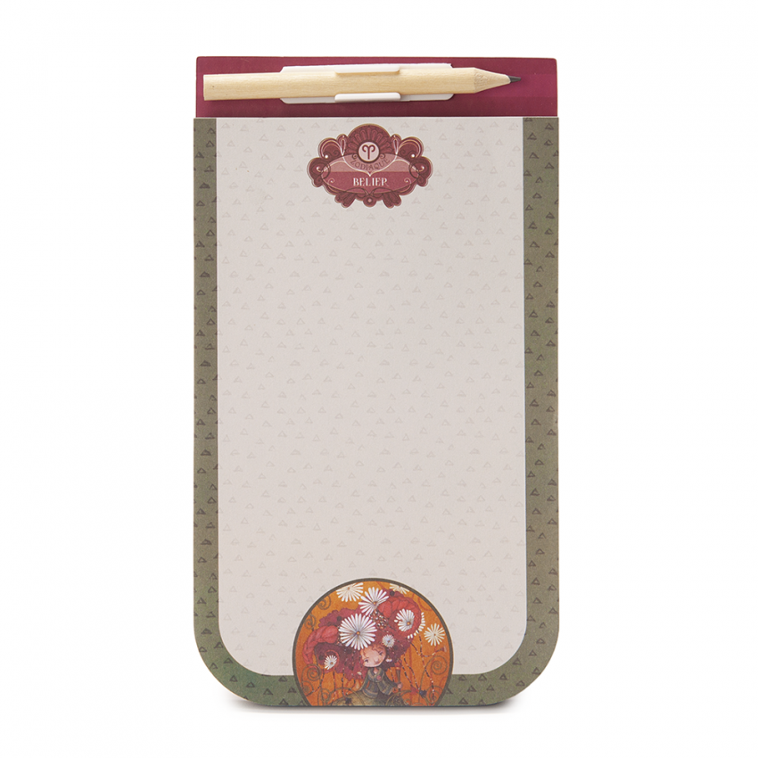Magnetic notebook with pencil- Aries
