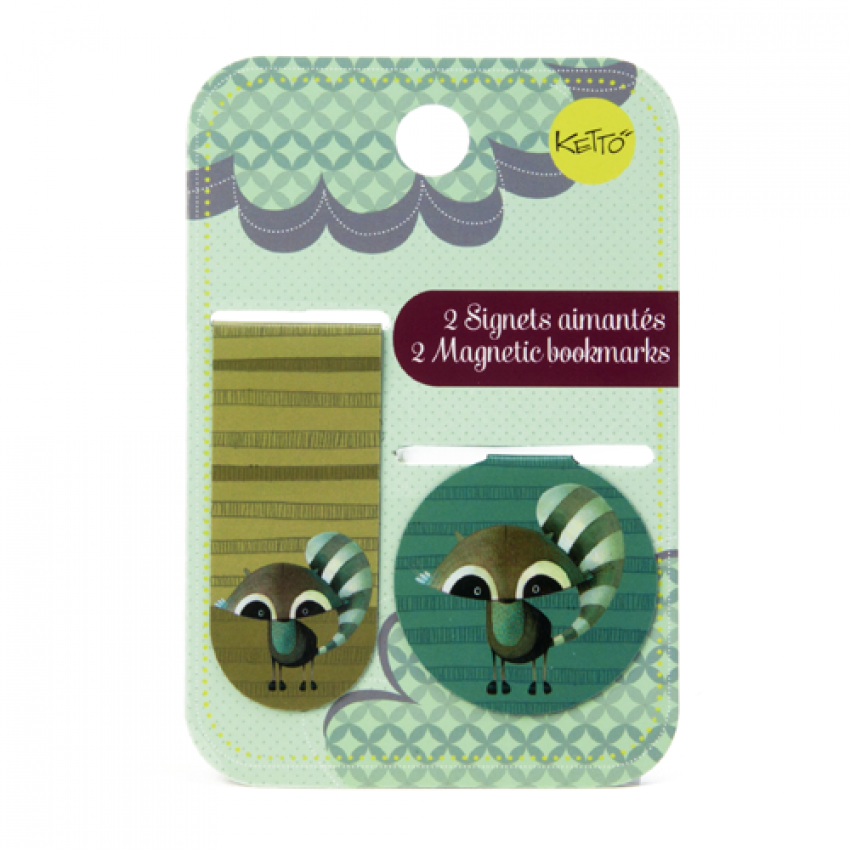 Magnetic bookmark Racoon