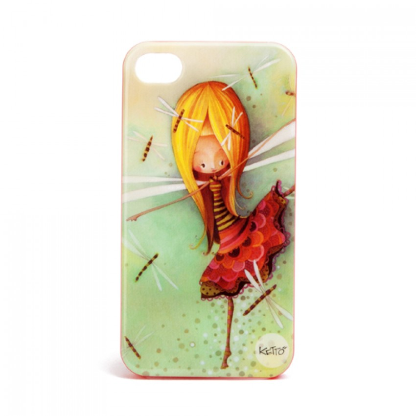 iPhone 4 case Dragonfly girl