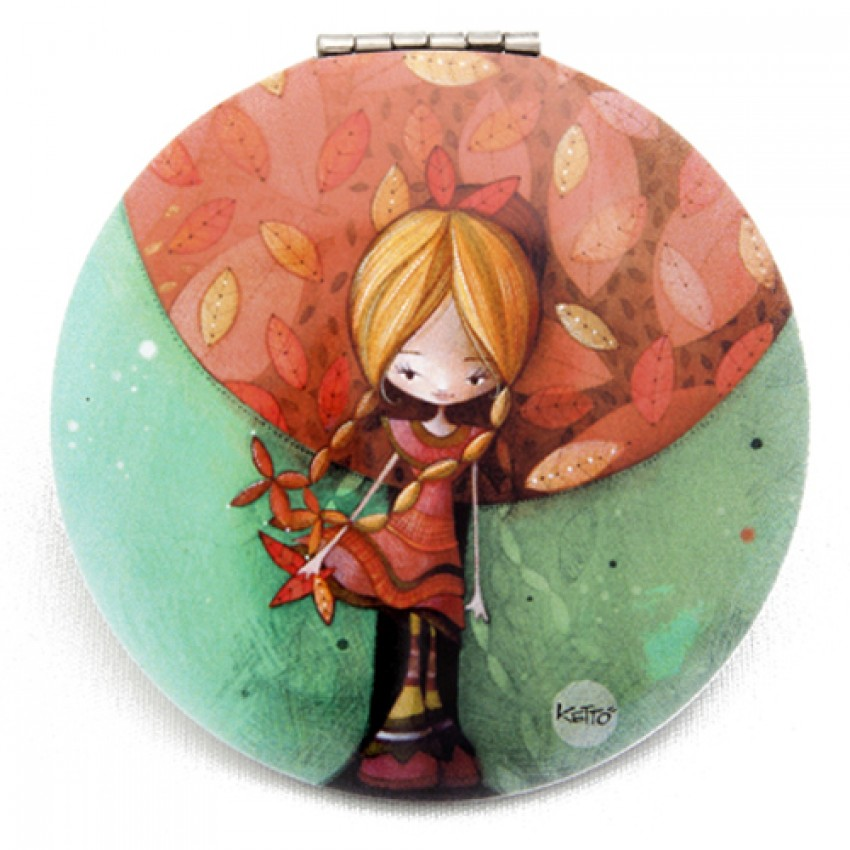 Pocket mirror Fall girl