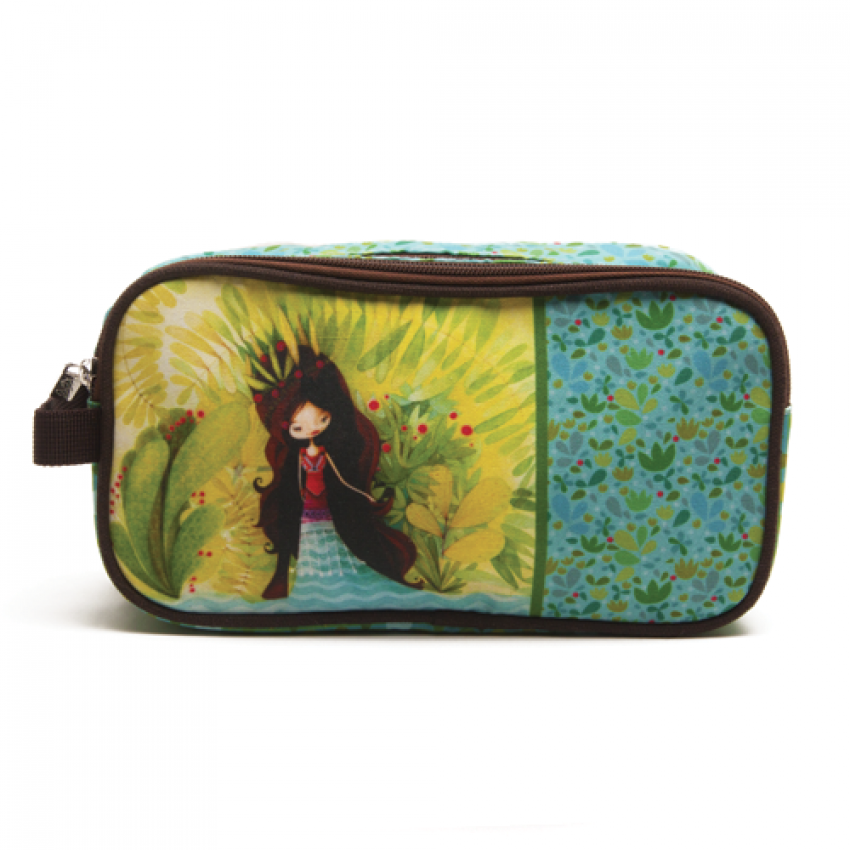 Double pencil case Wolf lady
