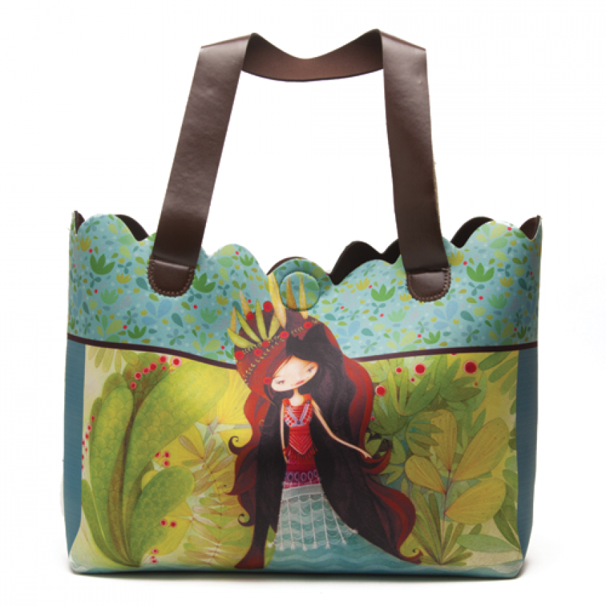 Tote bag Wolf lady