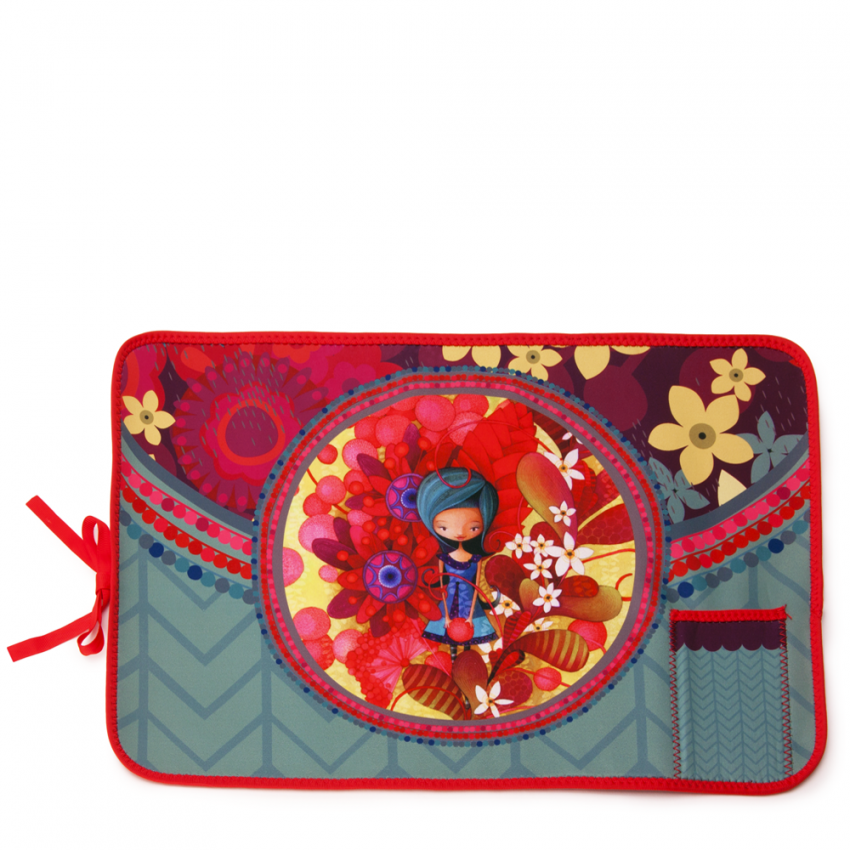 Fabric placemat Blue Lady
