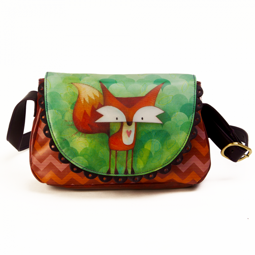 Mini-flap purse Fox