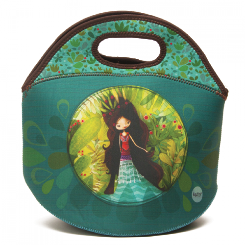 Lunch bag Sweet Wolf lady
