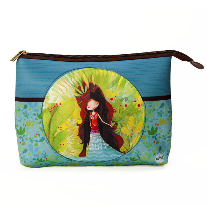 Cosmetic bag jumbo Wolf lady