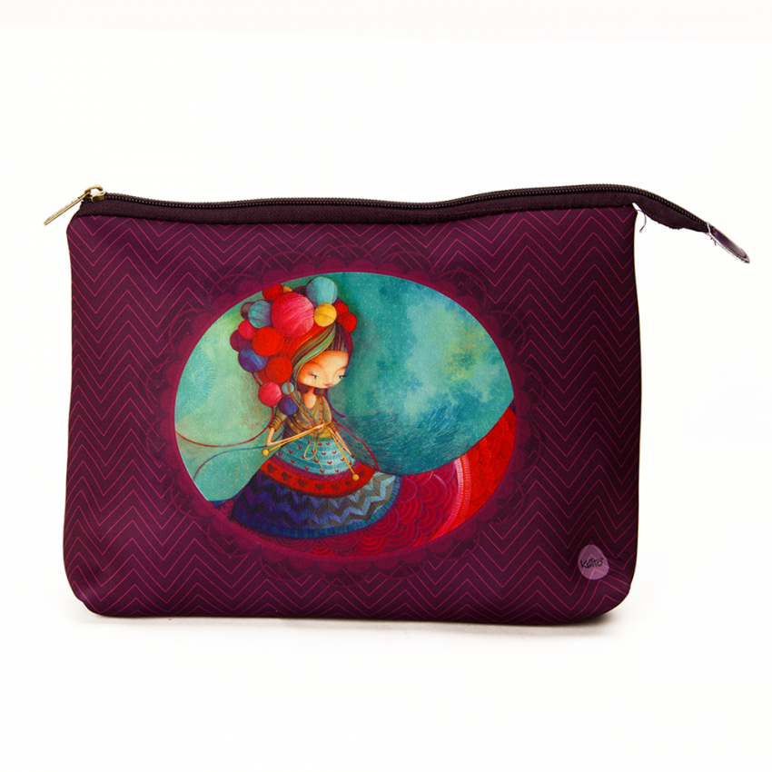 Cosmetic bag jumbo Knitting lady