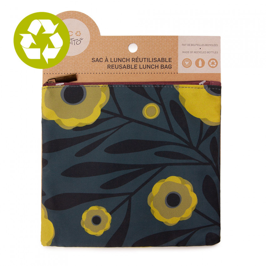 Medium zero waste pouch Yellow Poppy