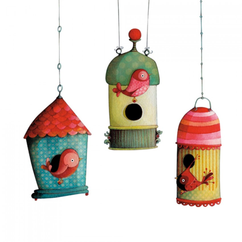 Wall decor Bird houses