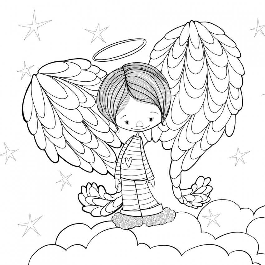 Coloring page | Angel