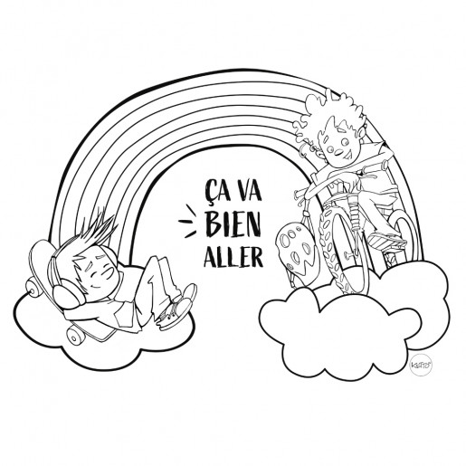 Rainbow boys Coloring page