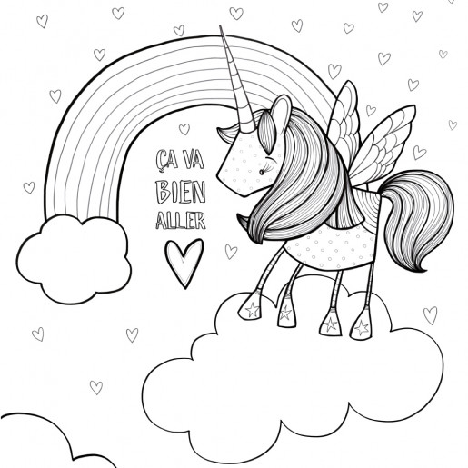 Coloring page | Unicorn