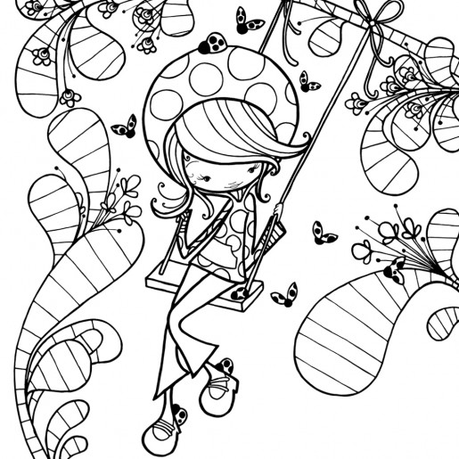 Coloring page   Daphne