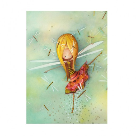 Card Dragonfly Girl