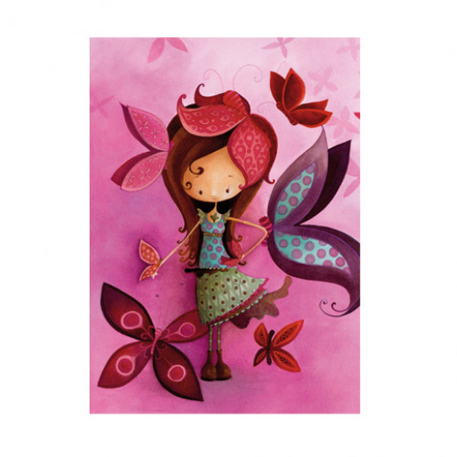 Card Butterfly Girl