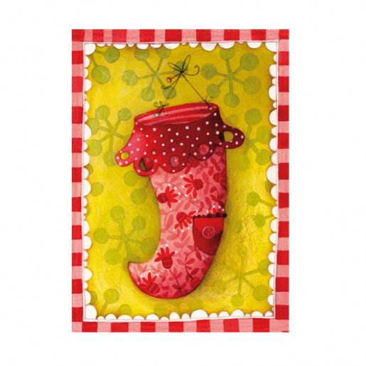 Christmas card Christmas Sock