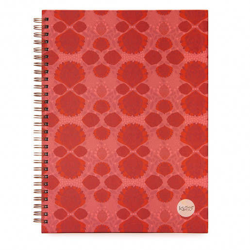 Wirebound notebook Pink pompom