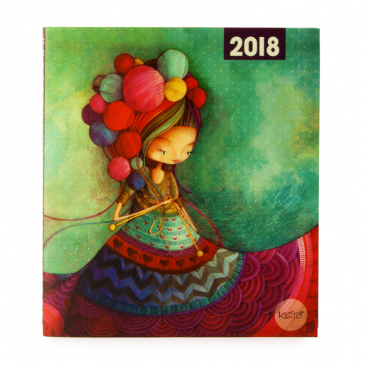 Weekly agenda 2018 Knitting Lady