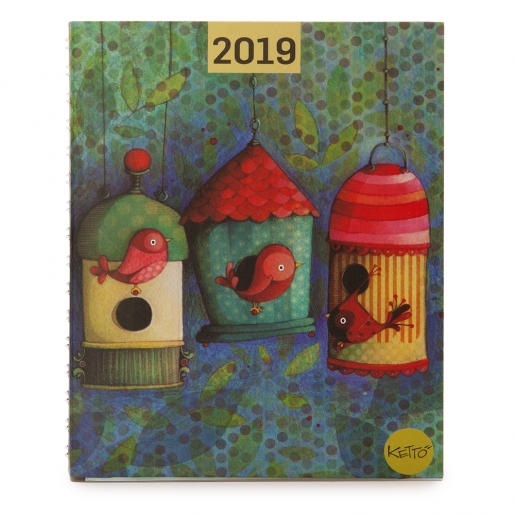 Daily agenda 2019 Bird house