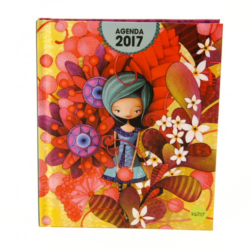 Mini-agenda 2017 Blue lady