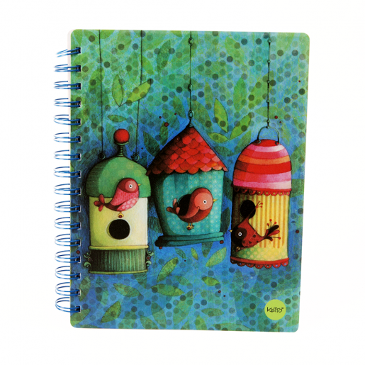 Softcover journal Bird houses