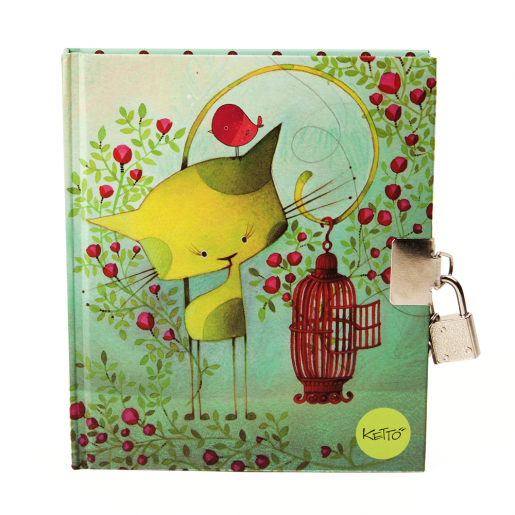 Journal with padlock Bird on the run