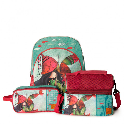 Trio Small Backpack, Lunch bag Dome & Double case | Lilia