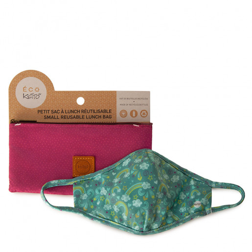 Duo Face mask and pouch | Rainbow