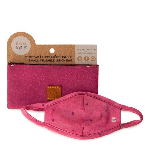 Duo Face mask and pouch | Hearts